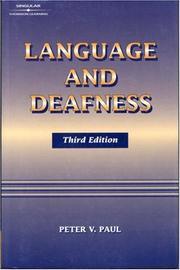 Cover of: Language and deafness