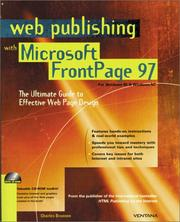 Cover of: Web publishing with Microsoft FrontPage 97