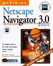 Cover of: Official Netscape Navigator 3 Book, Macintosh Edition | Phil James