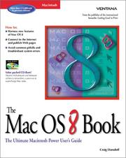 Cover of: The Mac OS 8 book