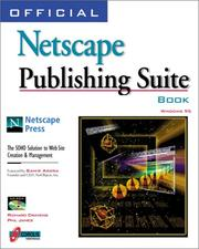 Cover of: Official Netscape publishing suite book