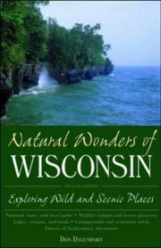 Cover of: Natural wonders of Wisconsin | Don Davenport