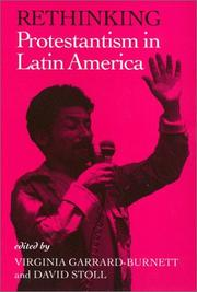 Cover of: Rethinking Protestantism in Latin America |