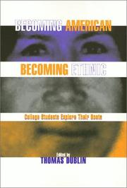 Cover of: Becoming American, Becoming Ethnic