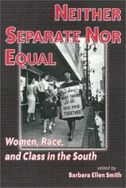 Cover of: Neither separate nor equal |