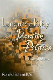 Cover of: Language policy and identity politics in the United States