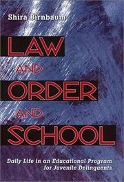 Cover of: Law and Order and School | Shira Birnbaum