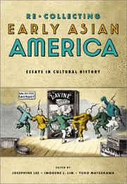 Cover of: Re/collecting Early Asian America |