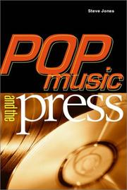 Cover of: Pop Music and the Press (Sound Matters)