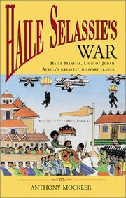 Haile Selassie's war by Anthony Mockler