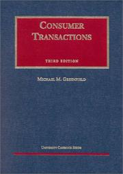 Cover of: Consumer transactions | Michael M. Greenfield