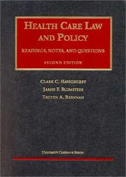 Cover of: Health care law and policy | Clark C. Havighurst