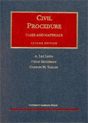 Cover of: Civil procedure