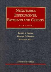 Cover of: Negotiable instruments, payments and credits