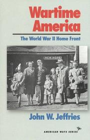 Cover of: Wartime America