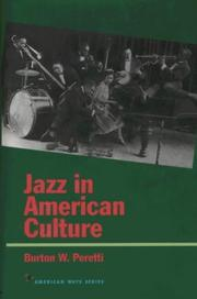 Cover of: Jazz in American culture
