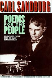Cover of: Poems for the people