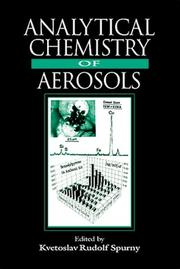 Cover of: Analytical Chemistry of Aerosols