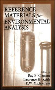 Cover of: Reference Materials for Environmental Analysis | Raymond E. Clement