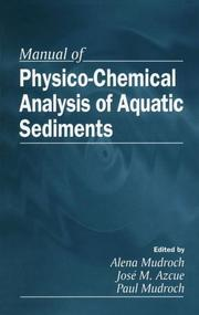Cover of: Manual of physico-chemical analysis of aquatic sediments |