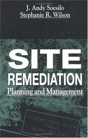 Cover of: Site remediation planning and management