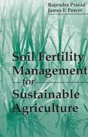 Cover of: Soil fertility management for sustainable agriculture