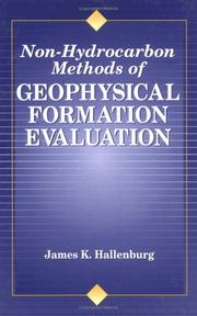 Cover of: Non-hydrocarbon methods of geophysical formation evaluation