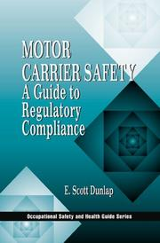 Cover of: Motor carrier safety | E. Scott Dunlap