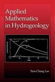 Cover of: Applied mathematics in hydrogeology | Tien-Chang Lee