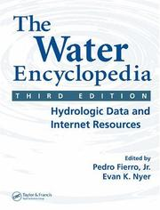 Cover of: The Water Encyclopedia, Third Edition |