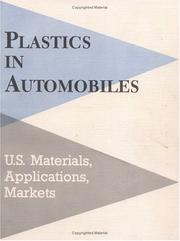 Cover of: Plastics in automobiles |