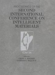 Cover of: Intelligent Materials, Second International Conference Proceedings |
