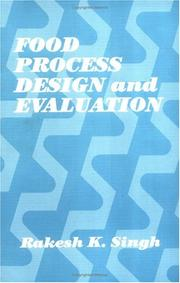 Cover of: Food process design and evaluation
