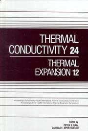 Cover of: Thermal conductivity 24 |