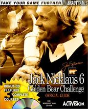 Cover of: Jack Nicklaus 6, Golden Bear challenge