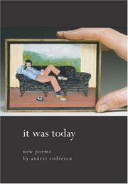 Cover of: It was today: new poems