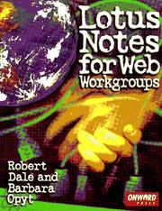 Cover of: Lotus Notes for Web workgroups