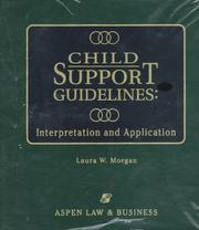 Cover of: Child support guidelines: interpretation and application