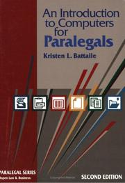 Cover of: Introduction to Computers for Paralegals | Kristen L. Battaile
