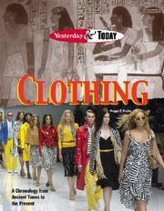 Cover of: Yesterday & Today - Clothing (Yesterday & Today)