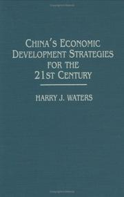 Cover of: China's economic development strategies for the 21st century