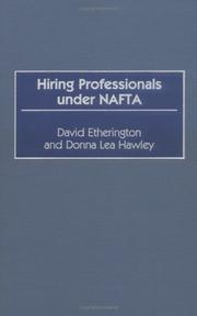 Cover of: Hiring professionals under NAFTA