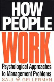 Cover of: How people work