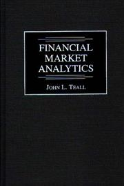 Cover of: Financial market analytics