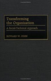 Cover of: Transforming the Organization