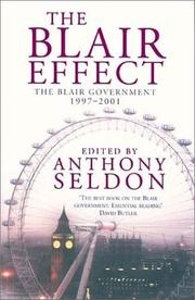 Cover of: The Blair Effect: The Blair Government, 1997-2001