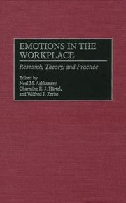 Cover of: Emotions in the Workplace |