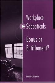 Cover of: Workplace sabbaticals-