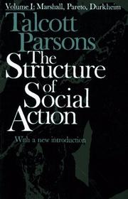 Cover of: The Structure of Social Action, Vol. 1