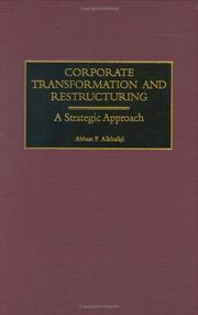 Cover of: Corporate Transformation and Restructuring | Abbass F. Alkhafaji